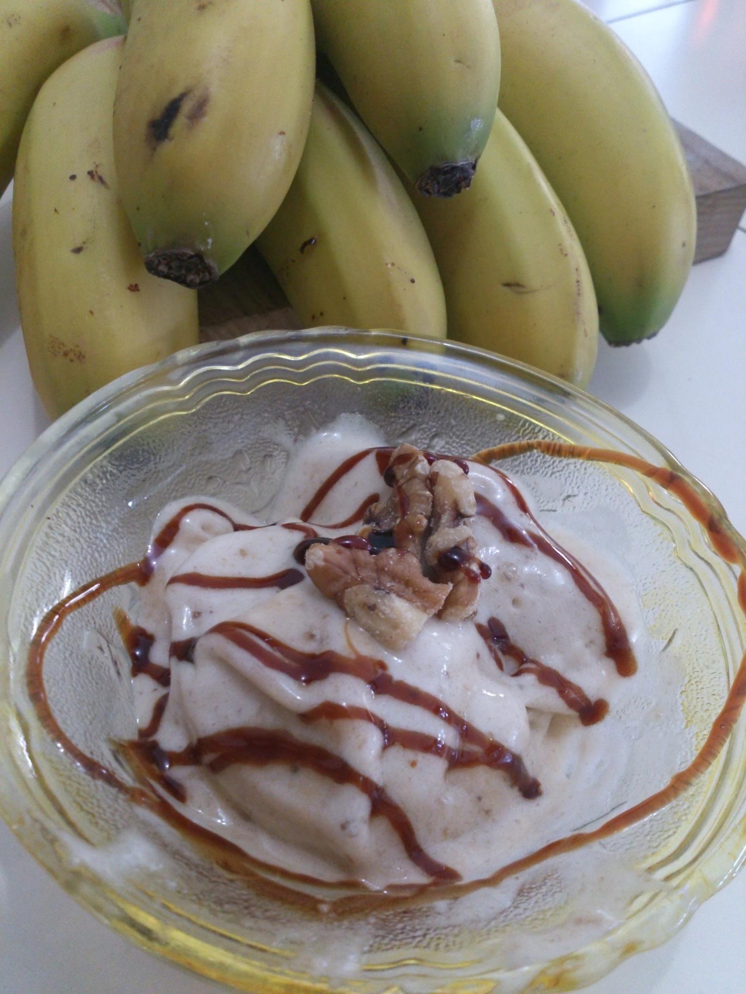 Helado de plátano sano, fácil y natural