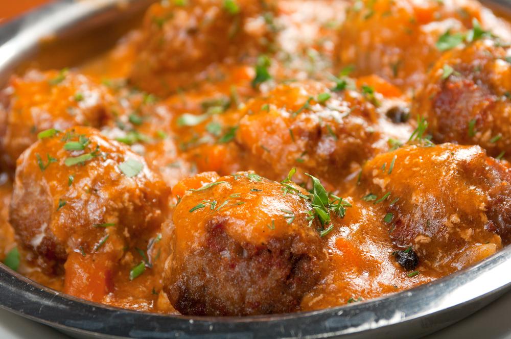 Albóndigas de berenjena con tomate Thermomix® (apta para vegetarianos)