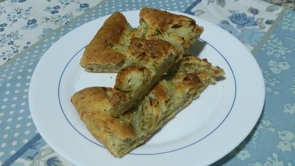 Focaccia de jamón y queso