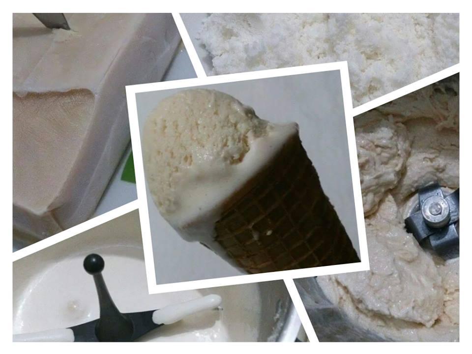 Helado de coco, con o sin lactosa