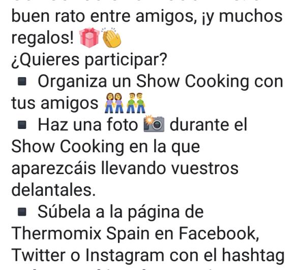 Concurso show cooking