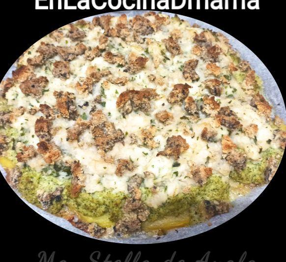Menú sin gluten de bacalao al horno con brócoli