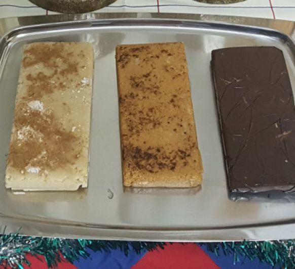 TURRONES A LA PIEDRA,MAZAPAN Y CHOCOLATE