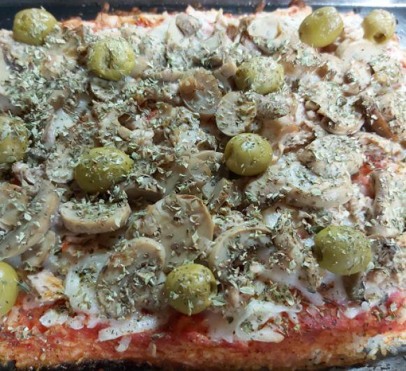 Arroz al estilo pizza