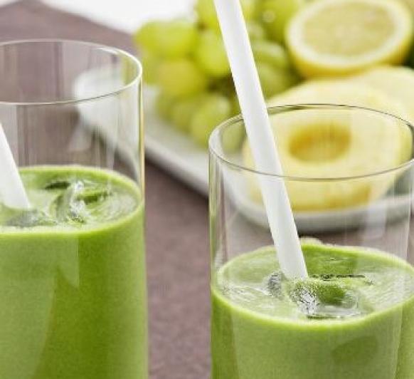 Smoothie verde para dos