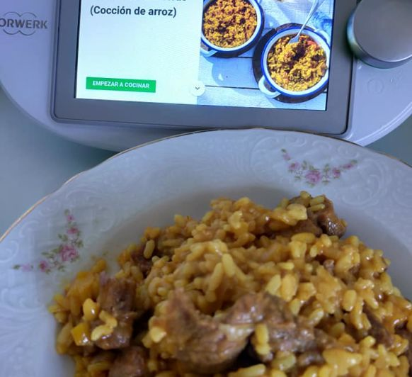 ARROZ CON CARRILLERAS (COCION DE ARROZ) Thermomix®
