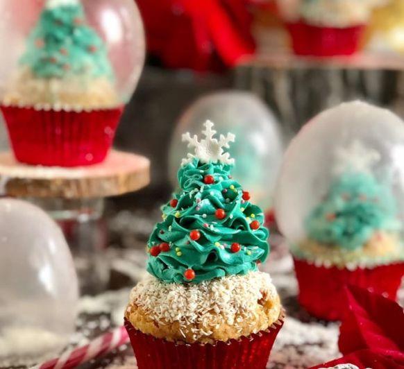 Cupcakes bolas de nieve