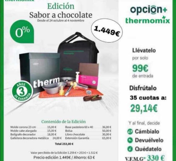 0% SIN INTERÉS - SABOR A CHOCOLATE