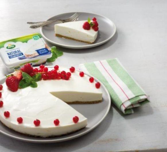 Cheese cake ligero con frutos rojos