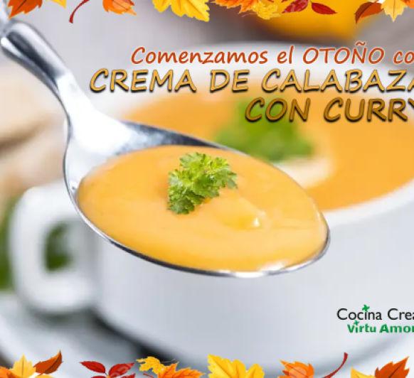 CREMA DE CALABAZA CON CURRY