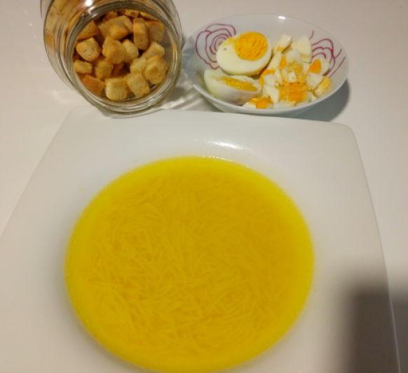 Sopa de cocido sin carne
