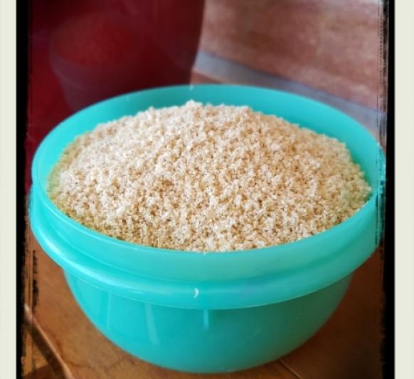 Gomasio, condimento ideal de sésamo y sal.