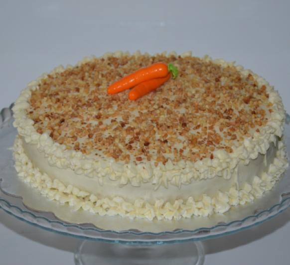 Tarta de Zanahoria con cobertura de queso crema (carrot cake)