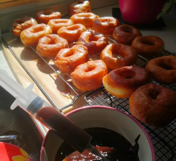 Donuts Thermomix® , rellenos de Chocolate.