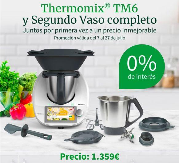 Thermomix® TM6 AL 0% Y SEGUNDO VASO COMPLETO!!!