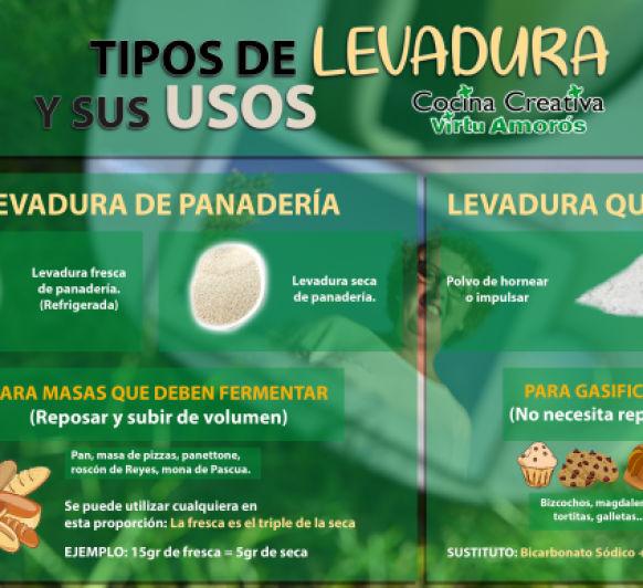TIPOS DE LEVADURA Y SUS USOS