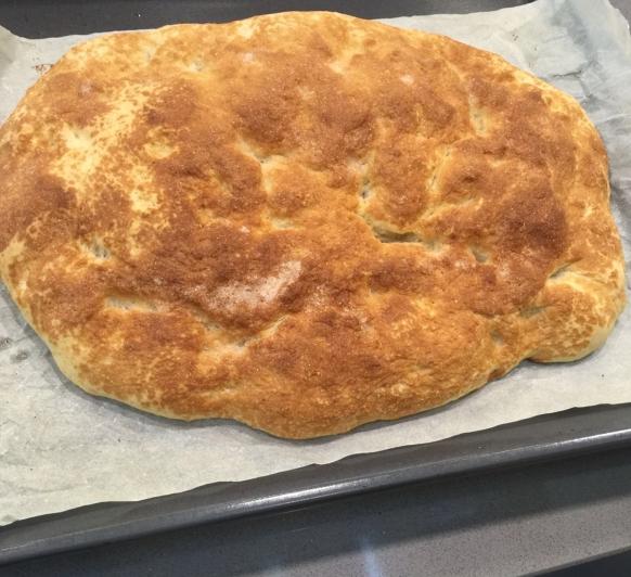 Pan de cañada con aceite.