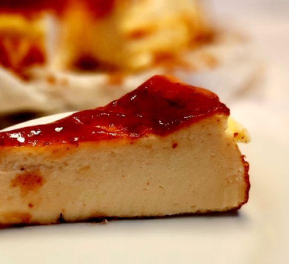 Tarta de queso estilo ''La Viña''
