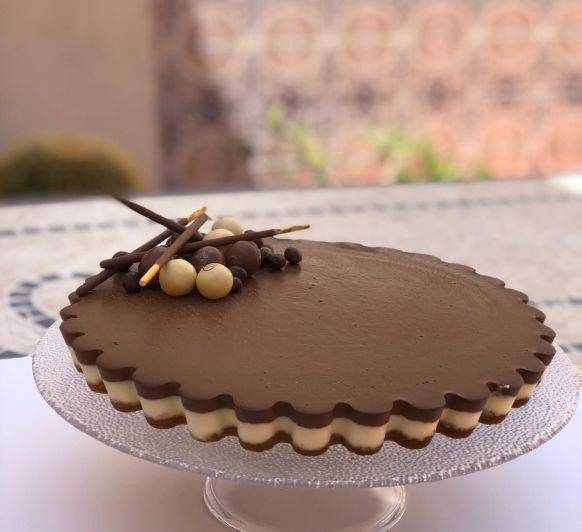 TARTA DE 2 CHOCOLATES