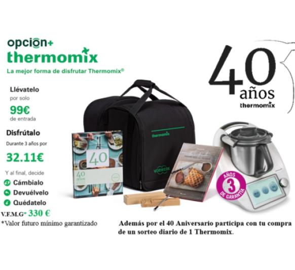 Thermomix® ️ 40 Aniversario, celébralo con nosotros, participa en el sorteo de un Thermomix® ️ al día