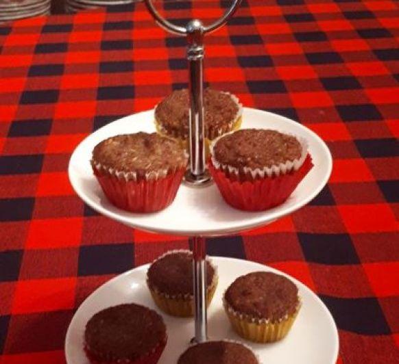 Minicupcakes de coco y afrecho de avellanas