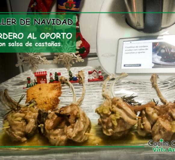 CORDERO AL OPORTO CON SALSA DE CASTAÑAS