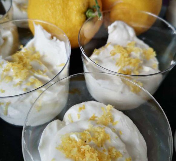 Mousse de limón