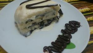 Tarta helada de mantecao y chocolate